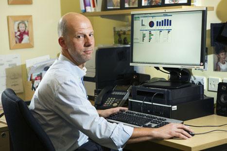 Dr David Grainger uses the RAIDR tool at practice and CCG-level (image: John Millard/UNP)