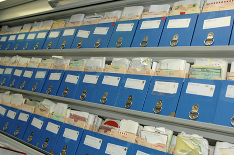 Relocating medical records elsewhere in the building or off-site can free up space.