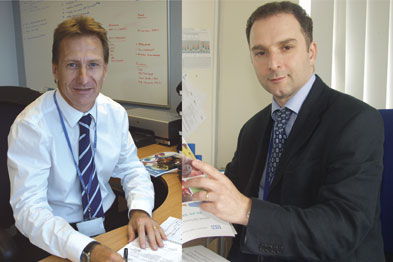Mr Donald (l) and Dr Mendelsohn say the PCT's system of manager and clinician buddies works well for Birmingham East and North