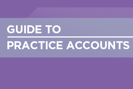Guide to practice accounts