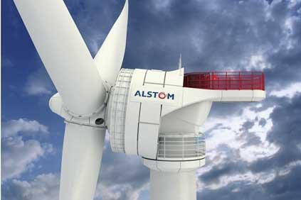 Close up - Alstom Haliade 150 - 6MW offshore turbine