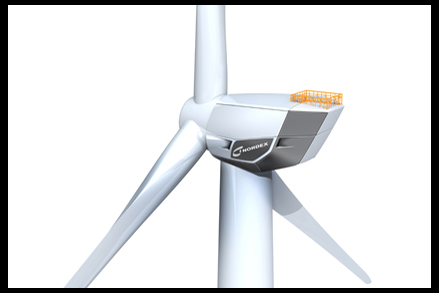 Close up - the Nordex N150/6000 offshore turbine