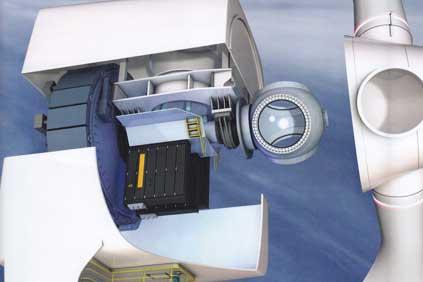 Close up - GE's 4.0-110 offshore wind turbine