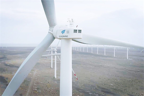 Goldwind's first GW165-5.2MW wind turbine connected to grid