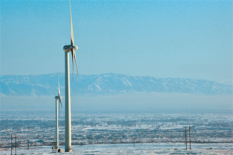 Icy conditions can reduce wind production by 80%