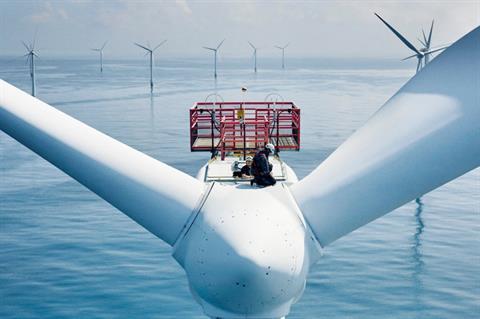 Offshore wind turbine catches fire at Horns Rev 1