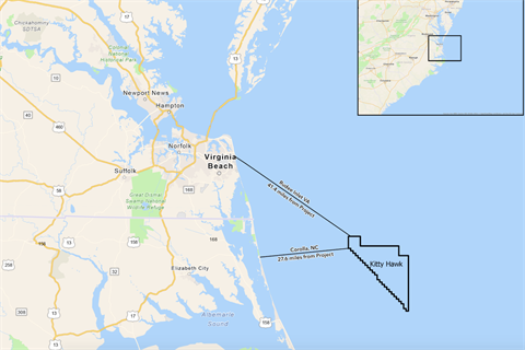 US starts permitting for Kitty Hawk offshore wind farm
