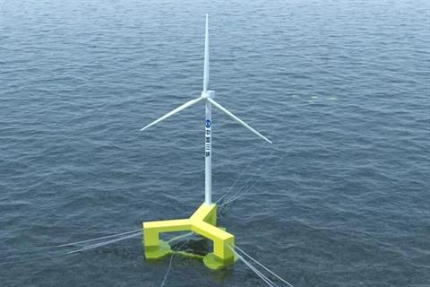 China's first floating wind turbine ready for installation