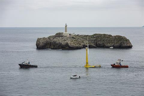 First floating turbine online off mainland Spain