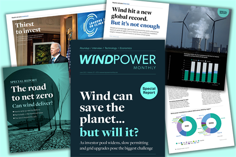 June 2021 issue of Windpower Monthly