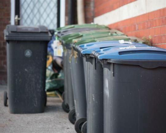 Bin collections go monthly
