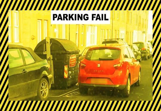 Bin-blocking drivers face parking fines in Edinburgh