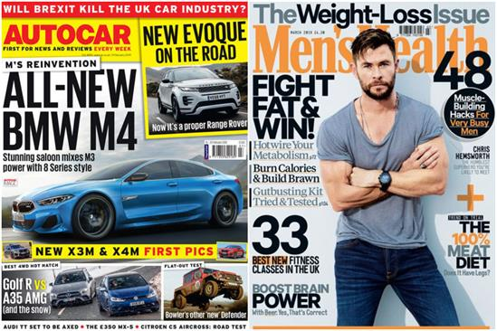 Men's mags sales fall 10%