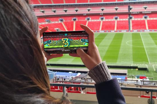EE hosts celebrity AR foosball tournament at Wembley Stadium