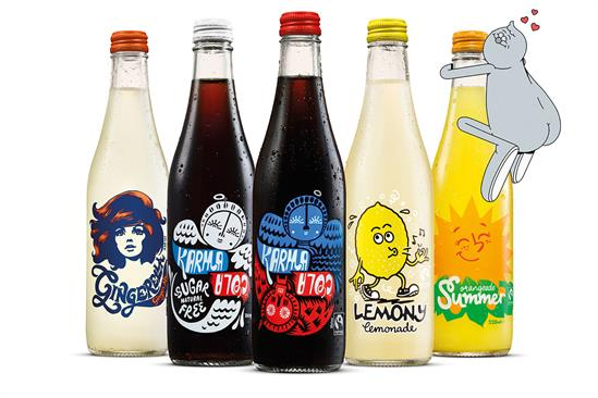 Karma Cola and Wonderhood take over Shoreditch with comic strips for 'bad adults'