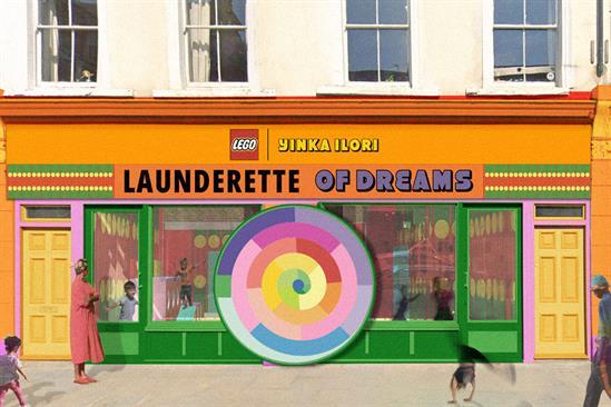 Lego: Ilori's design uses his signature colourful style