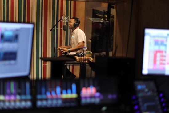 Legend: in the studio recording 'Harmonize'