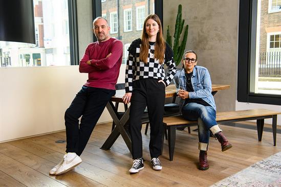 Left to right: Mark Elwood, Emma Brooke and Chaka Sobhani