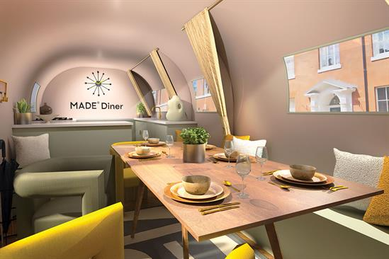 Made.com: the space will be furnished with the brand's autumn dining collection