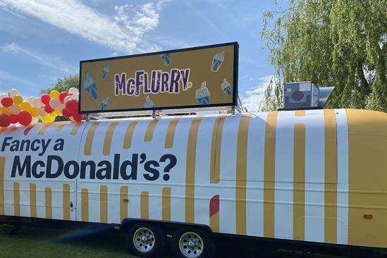 McDonald's delivers McFlurry Van to at-home birthday parties
