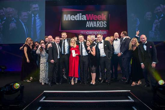 Manning Gottlieb OMD win at the last in-person Media Week Awards in 2019