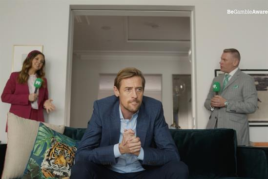 Paddy Power: Crouch joined in his living room by commentators Gina Bryce and Matt Chapman