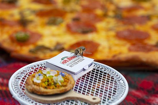 Papa John's creates 'bee pizza' to highlight declining populations