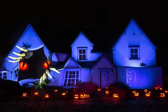 Samsung showcases its tech to create a Halloween-themed house