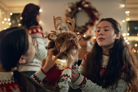 Very: the first Christmas ad aired 90 days ahead of this year's festive celebrations