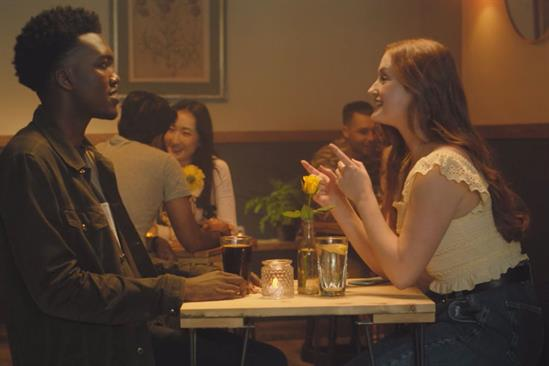 Bumble: ad features a dater getting advice from TikTok creators