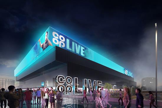 Co-op enters 15-year partnership deal with new arena in Manchester