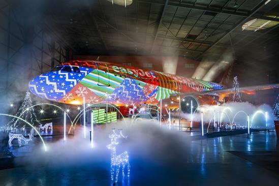 EasyJet and Luton Airport create Christmas lightshow