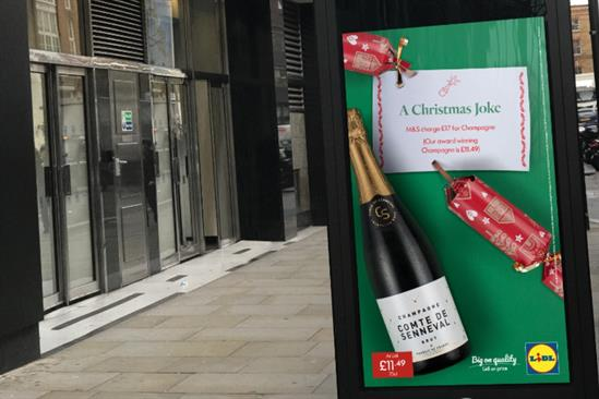 Lidl: poster ad appeared outside an M&S store