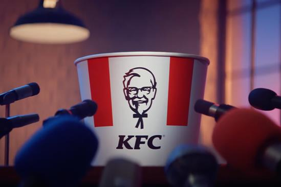KFC crows about animal welfare record by dropping the c-bomb live on TV