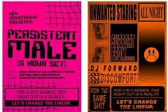 Creative grads devise 'Change the lineup' campaign to combat nightclub sexual harassment