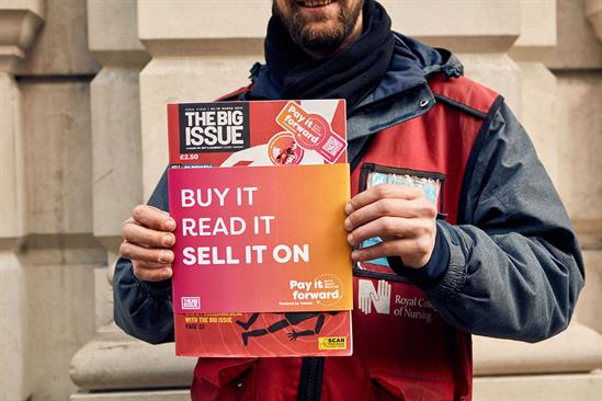 """The Big Issue """"Pay it forward"""" by FCB Inferno"""