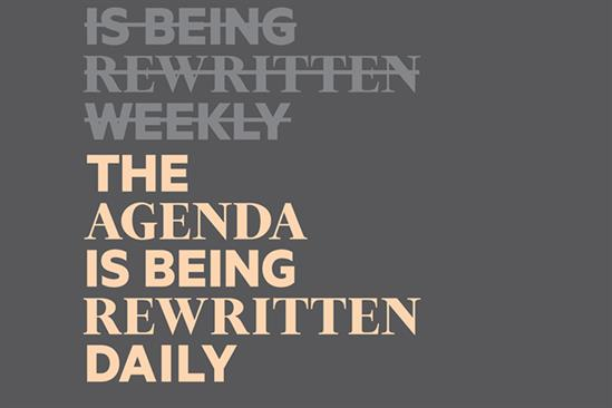 "The Financial Times ""The agenda is being rewritten daily"" by The Brooklyn Brothers"