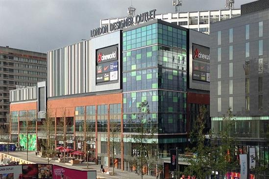 "London Designer Outlet  ""Shop"", ""Santa"" and ""Santa sale"" by Paul Burke Creative"
