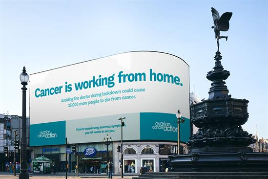 """Ovarian Cancer Action """"Cancer is working from home"""" by TBWA\London"""