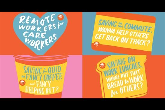 "The Care Workers Charity ""Remote workers for care workers"" by Our Design Agency"