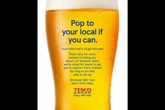 "Tesco ""Pop to your local if you can"" by BBH London"