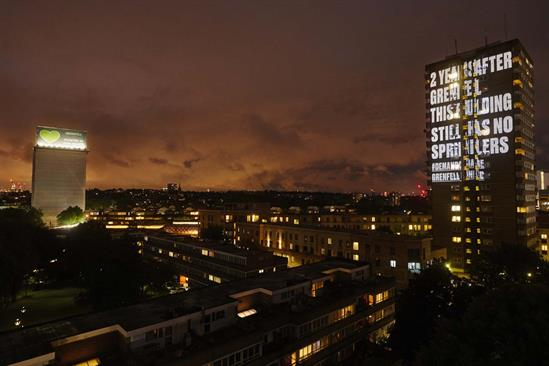 "Grenfell United ""#DemandChange"" by Anomaly"