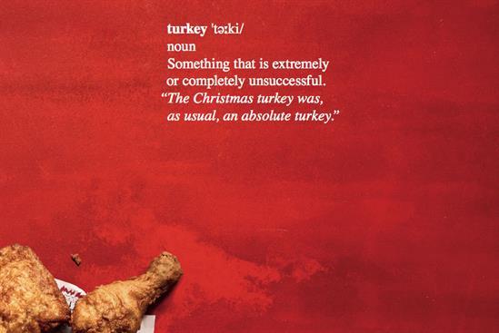 "KFC ""Christmas turkey"" by Mother"