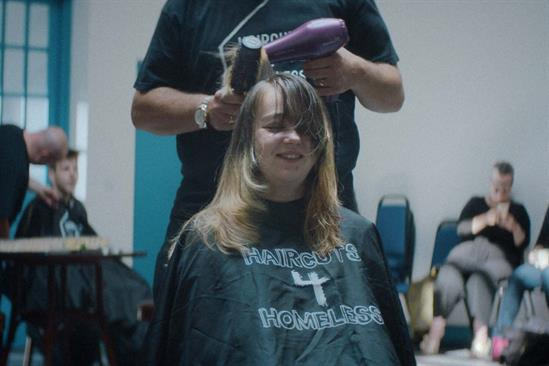 """The National Lottery """"Haircuts4Homeless"""" by Adam & Eve/DDB"""