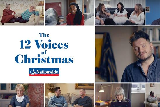 "Nationwide ""12 voices of Christmas"" by VCCP"