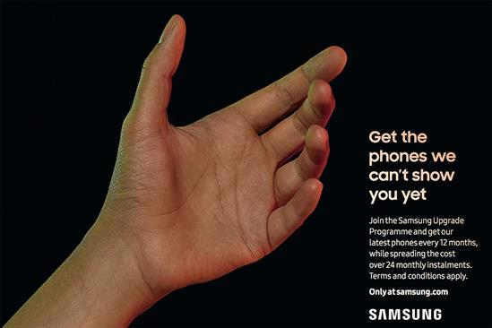 "Samsung ""Get the phones we can't show you yet"" by BBH London"