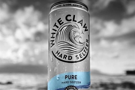 White Claw's sleek social media presence has helped it appeal to male customers. (Image via Twitter).