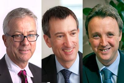 [l-r] Mike Carpenter, Mark Poulston and Nigel Jones