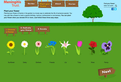 The Flowers of Thanks virtual garden
