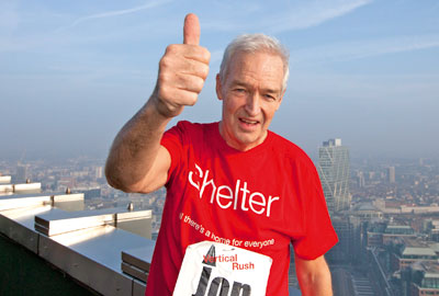 Celebrities including Jon Snow tackled the 920 steps of Tower 42